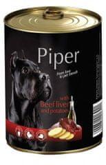 Piper Dolina Noteci mokra hrana za pse, goveja jetrca in krompir, 400 g, 24/1