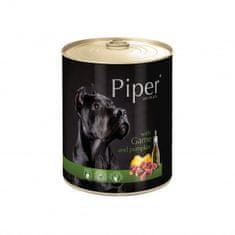 Piper Dolina Noteci mokra hrana za pse, divjačina in buča, 400 g, 24/1