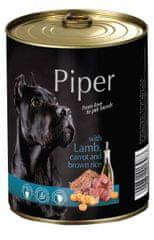 Piper Dolina Noteci mokra hrana za pse, jagnjetina, korenje in riž, 400 g, 24/1
