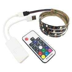 AlvaTech RGB USB LED pásik pre TV 100cm diaľkový ovládač 30LED 7,2W