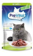 PreVital pokarm dla kotów NATUREL z łososiem w sosie 28 x 85 g