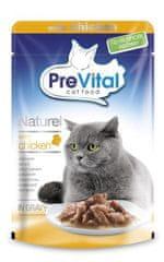 PreVital mokra karma dla kota NATUREL duszone filety z kurczaka w sosie 28 x 85 g