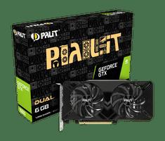 PALiT GeForce GTX 1660 Dual grafična kartica, 6 GB GDDR5 (NE51660018J9-1161C)