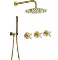 REA Exit - Podomietkový sprchový set + batéria, zlatá, REA-P8001