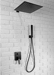 REA REA Sonic - Podomietková sprchová sada, čierna, REA-P0369