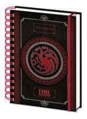 Game of Thrones Blok Targaryen / A5 kroužkový