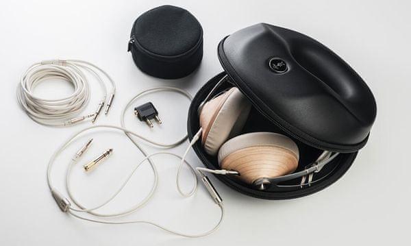 nadčasová elegantná náhlavné slúchadlá meze 99 classics výborný zvuk prémiové slúchadlá káblové pripojenie puzdro v balení dva káble v balení redukcia v balení mikrofón na kábli drevené mušle montovaná nelepené špičková kvalita prevedenia