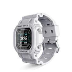 Hellowatch Multišportové chytré hodinky RetroWatch I2 na meranie srdcového rytmu, krvného tlaku a kyslíka v krvi Biela