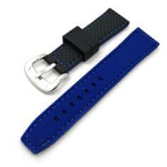 Hellowatch Silikónový dvojfarebný remienok na hodinky - silikónový náhradný remienok na chytré hodinky 20/22/24mm Modrá 20 mm