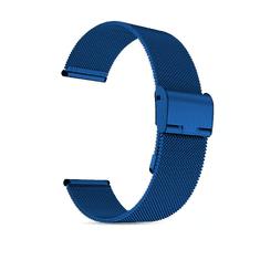 Hellowatch Remienok na hodinky z nehrdzavejúcej ocele z kovovej tkaniny - náhradný remienok na inteligentné hodinky 20 / 22mm Modrá 22 mm