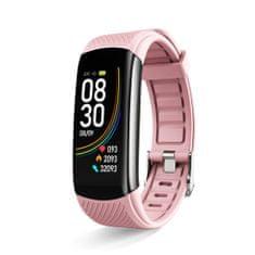 Hellowatch C6 Multišportový inteligentný náramok meria srdcový rytmus, krvný tlak, telesnú teplotu a hladinu kyslíka v krvi Pink