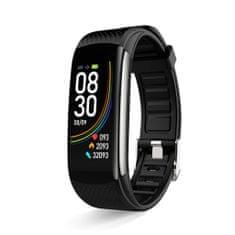 Hellowatch C6 Multišportový inteligentný náramok meria srdcový rytmus, krvný tlak, telesnú teplotu a hladinu kyslíka v krvi Čierna