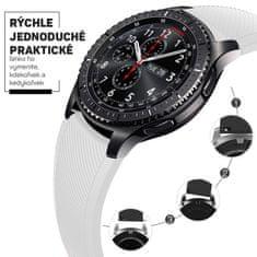 Hellowatch Silikónový remienok na hodinky - náhradný remienok na chytré hodinky 20 / 22mm Biela 20 mm