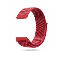 Hellowatch Nylonový priedušný remienok - náhradný remienok na smart hodinky 20 / 22mm Červená 22 mm