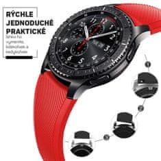 Hellowatch Silikónový remienok na hodinky - náhradný remienok na chytré hodinky 20 / 22mm Červená 20 mm