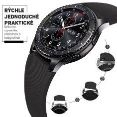 Hellowatch Silikónový remienok na hodinky - náhradný remienok na chytré hodinky 20 / 22mm Čierna 20 mm