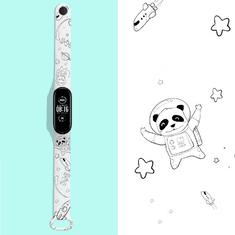 """Hellowatch Xiaomi Mi Band 3 / Mi Band 4 a Xiaomi Mi Band 5 / Mi Band 6 """"hypebeast"""" vzorovaný remienok Biely White bear Xiaomi Mi Band 3/4"""