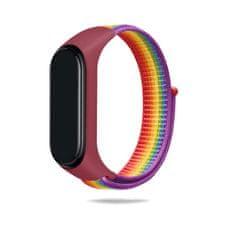Hellowatch Xiaomi Mi Band 3 / Mi Band 4 / Mi Band 5 / Mi Band 6 náhradný remienok na suchý zips pre Smart náramky Dúha