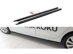 Maxton Design difuzory pod boční prahy ver.2 pro Škoda Octavia Mk4, černý lesklý plast ABS