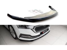 Maxton Design spoiler pod přední nárazník ver.2 pro Škoda Octavia Mk4, černý lesklý plast ABS