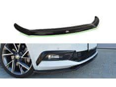 Maxton Design spoiler pod přední nárazník ver.2 pro Škoda Superb Mk3, černý lesklý plast ABS
