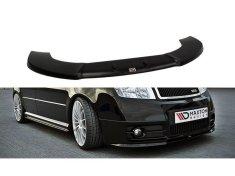 Maxton Design spoiler pod přední nárazník pro Škoda Fabia RS Mk1, černý lesklý plast ABS