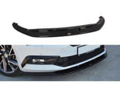 Maxton Design spoiler pod přední nárazník ver.3 pro Škoda Superb Mk3, černý lesklý plast ABS