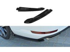 Maxton Design boční difuzory pod zadní nárazník pro Škoda Superb Mk3, černý lesklý plast ABS