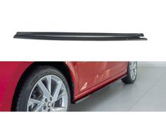 Maxton Design difuzory pod boční prahy pro Škoda Scala, černý lesklý plast ABS