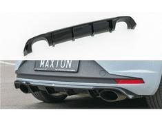 Maxton Design vložka zadního nárazníku pro Seat Leon Cupra Mk3, černý lesklý plast ABS