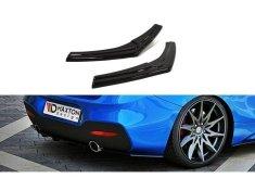 Maxton Design boční difuzory pod zadní nárazník pro BMW Řada 1 F20- F21 Facelift, černý lesklý plast ABS