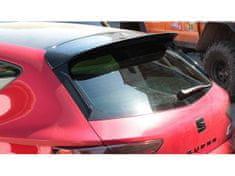 Maxton Design prodloužení spoileru pro Seat Leon Cupra Mk3 Facelift, černý lesklý plast ABS