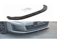 Maxton Design spoiler pod přední nárazník ver.1 pro Volkswagen Golf GTI Mk7, černý lesklý plast ABS
