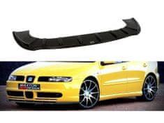 Maxton Design spoiler pod přední nárazník pro Seat Leon Mk1, černý lesklý plast ABS
