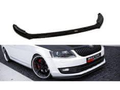 Maxton Design spoiler pod přední nárazník ver.2 pro Škoda Octavia Mk3, černý lesklý plast ABS