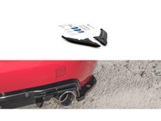 Maxton Design boční difuzory pod zadní nárazník pro Peugeot 308 Mk 2 GT, černý lesklý plast ABS