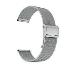 Hellowatch Remienok na hodinky z nehrdzavejúcej ocele z kovovej tkaniny - náhradný remienok na inteligentné hodinky 20 / 22mm Strieborná 22 mm