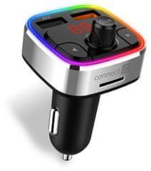 Connect IT CarRGB Bluetooth transzmitter, 2×USB+MicroSD CCC-9090-SL, szürke