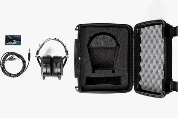 špičkové audiofilské slúchadlá audeze lcd-x prémiový zvuk veľmi čistý a znelý kábel v balení puzdro v balení prémiové prevedenie