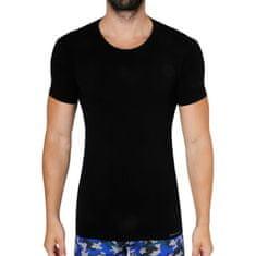 Gino Pánské tričko bambusové černé (58006)