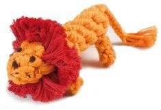 RECORD Bavlnená hračka pre psa uzol lev