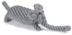 RECORD Bavlnená hračka pre psa uzol slon