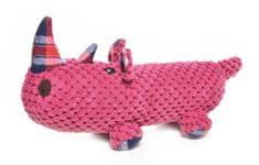 RECORD Plyšová pískacia hračka pre psa FAT BOYS nosorožec