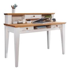 Bílý nábytek Psací stůl Marone, dekor bílá-dřevo, masiv, borovice