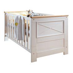 Bílý nábytek Dětská postýlka Marone, bílá, masiv, borovice