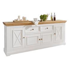 Bílý nábytek Komoda Marone 2.4, dekor bílá-dřevo, masiv, borovice