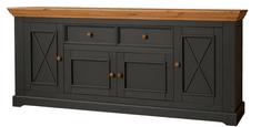 Bílý nábytek Komoda Marone 2.4, šedá-dřevo, masiv, borovice