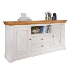 Bílý nábytek Komoda Marone 2.2, dekor bílá-dřevo, masiv, borovice