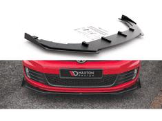 """Maxton Design """"Racing durability"""" spoiler pod přední nárazník ver.3 s křidélky pro Volkswagen Golf GTI Mk6, plast ABS bez povrchové úpravy"""