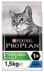 Purina Pro Plan hrana za sterilizirane mačke, zajec, 1,5 kg